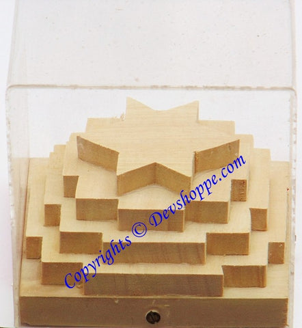 Shriparni (Sriparni) wood 3D kuber yantra for wealth and prosperity - Devshoppe - 1