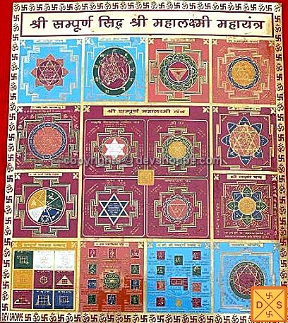 Sri Sampurn Mahalakshmi yantra for wealth and prosperity - Devshoppe