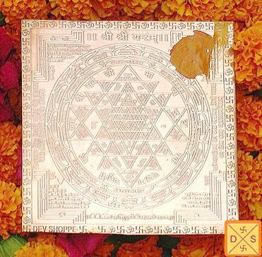 Sri Sriyantra yantra on copper plate - Devshoppe