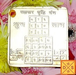 Sri Vyapar vridhi yantra on mixed metal plate - Devshoppe