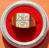 Bisa (Beesa) yantra brass ring ~ All sizes available - Devshoppe