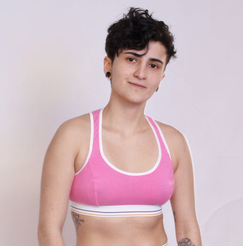 Pink Ranger Sports Bra