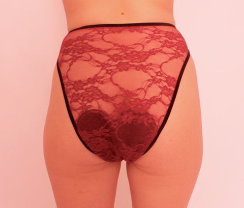 Crimson Wave Lacey Period Panties