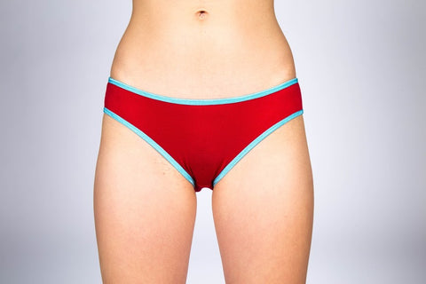 Watermelon Red Low Rise Period Panties