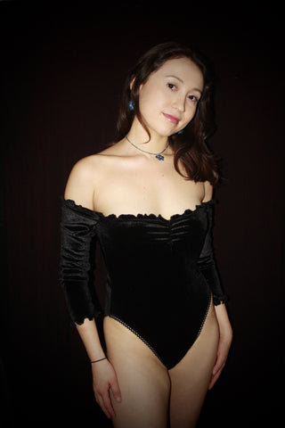 Black Velvet Bodysuit