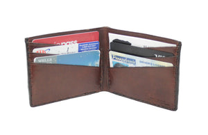 Tobacco Six Pocket Leather Bifold
