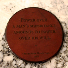 Leather Coaster: Alexander Hamilton Power Over a Man