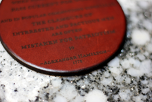 Leather Coaster: A. Hamilton, Noise and Impudence