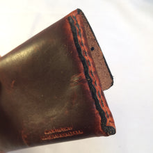 Hand Stitching Leather Business Card Holder: Black Bear
