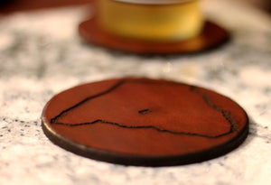 Leather Coaster: Lancaster County Map, City Bear