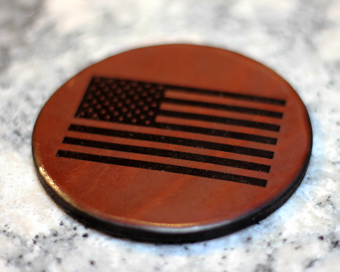 Leather Coaster: Flag of The United States of America