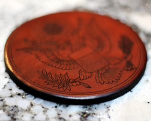 Leather Coaster: Seal of the United States of America