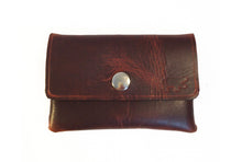 Leather Business Card Holder: Black Bear