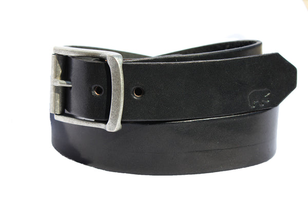 Black Leather Belt. Black Bear Leather. USA Made. Vegetable tanned leather. Legacy Crafted. Hand crafted.