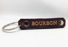 Leather Bourbon Key Chain