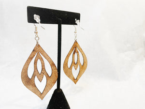 Leather Earrings: 'Enchanted Dreamer'