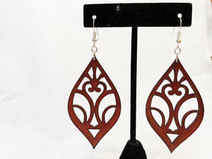 Leather Earrings: 'Divine Inspiration'