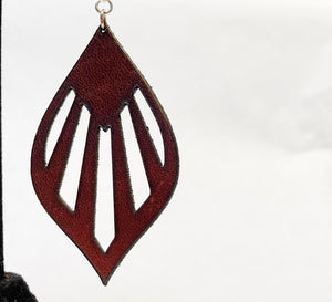 Leather Earrings: 'Eternal Sunshine'