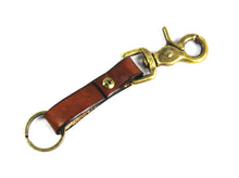 Tobacco Leather Key Fob