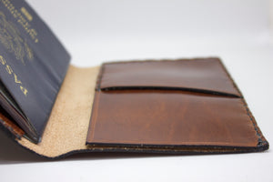 Tobacco Leather Passport Holder