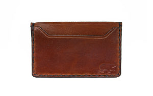 Tobacco Leather Card Wallet