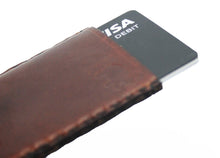 Tobacco Leather Card Slip