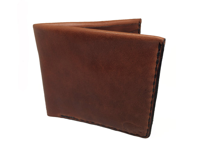 The Franklin: Foldover Bifold Leather Wallet