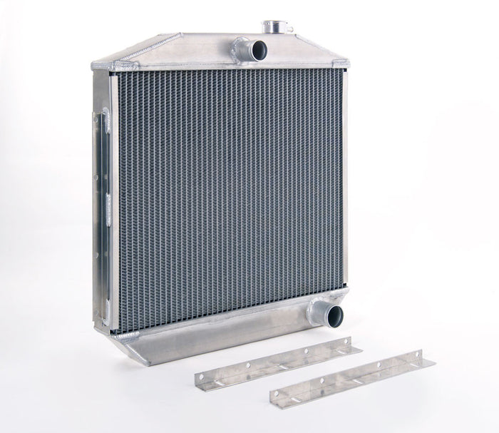 Direct-Fit Natural Finish Downflow Radiator for GM w/Std Trans