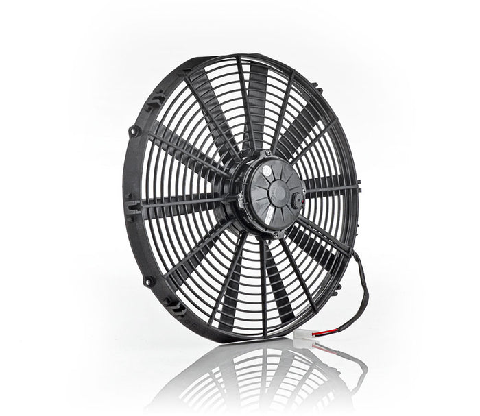 "16"" Euro Black, High Torque, Electric Pusher Fan"
