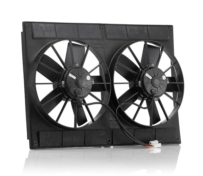 "11"" Euro Black, High Torque, Electric Dual Puller Fans"