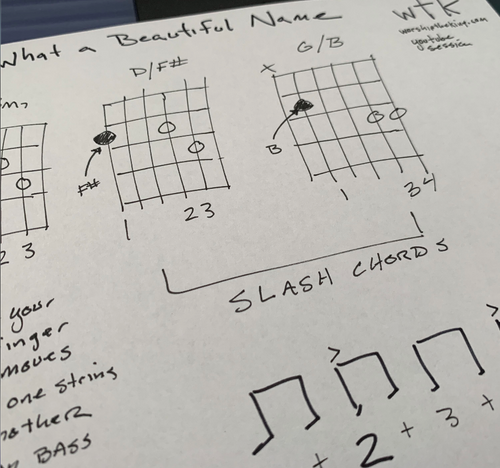What a Beautiful Name Chord Strum Sheet - Free YouTube Sessions