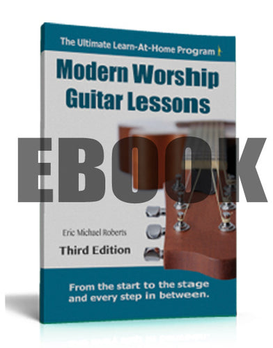 Modern Worship Guitar Lessons - EBOOK