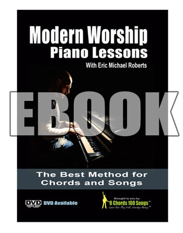Modern Worship Piano Lessons - EBOOK