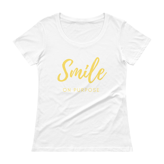 Smile on Purpose Ladies' Scoopneck T-Shirt