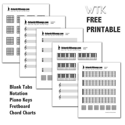 Free Blank Chart and Tab Pack