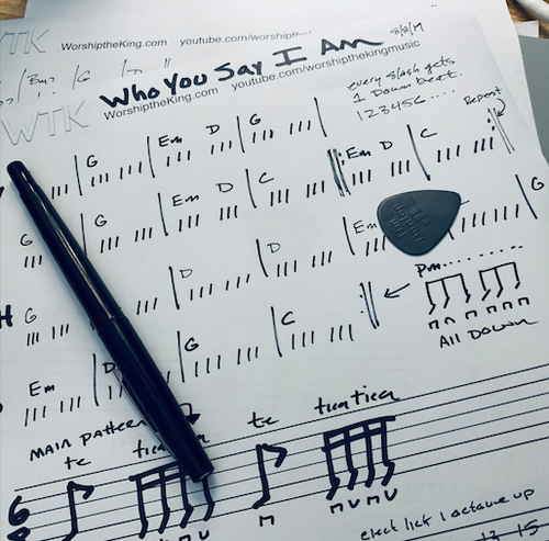 Who You Say I Am - YouTube Lesson Charts