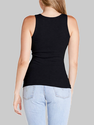 Chelsea Scoop Neck Tank | Black
