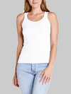 Chelsea Scoop Neck Tank | White