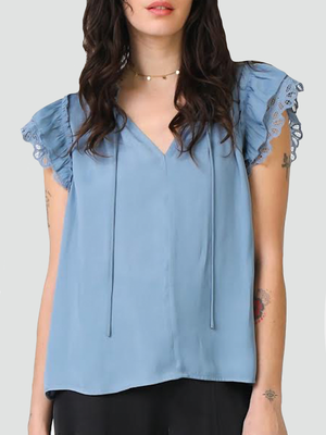 Ella Top | Light Blue