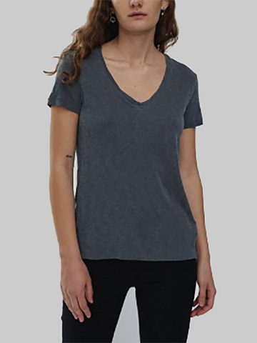 Stateside Black V-Neck