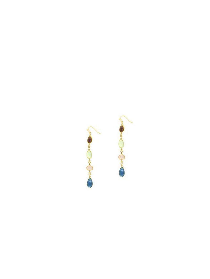 Tai Jewel-toned Glass Drop Earring