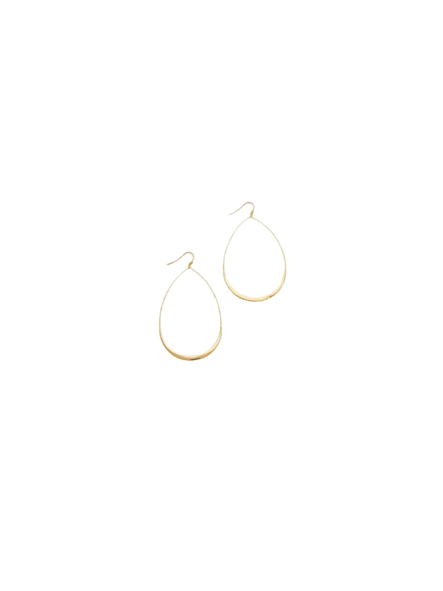 Tai Gold Thick Trim Teardrop Earring