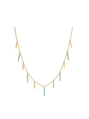 Tai Gold Turquoise Stick Necklace P