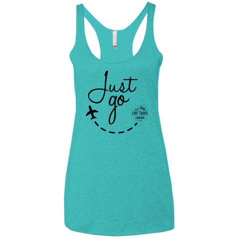 Just Go | Ladies' Triblend Racerback Tank