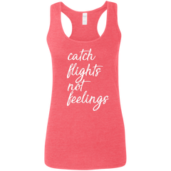 Catch Flights Not Feelings Tank (Womens) | Coral
