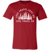Image of Love. Travel. Just Go. (Unisex) Jersey Short-Sleeve Crew T-Shirt