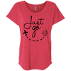 Image of Just Go | Ladies' Triblend Dolman Sleeve