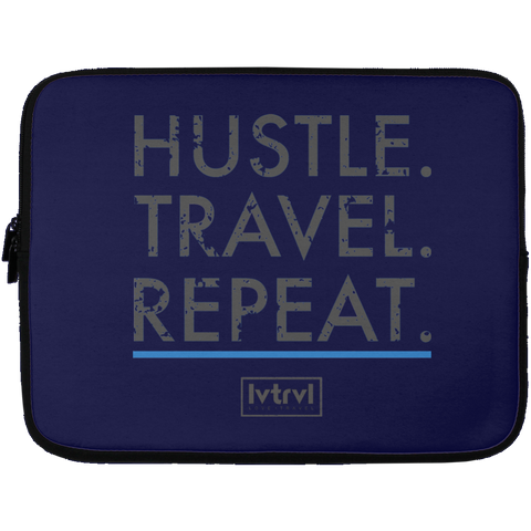 Hustle. Travel. Repeat. Laptop Sleeve | 13 inch