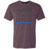 Image of Hustle. Travel. Repeat. | Men's Premium Triblend Tee