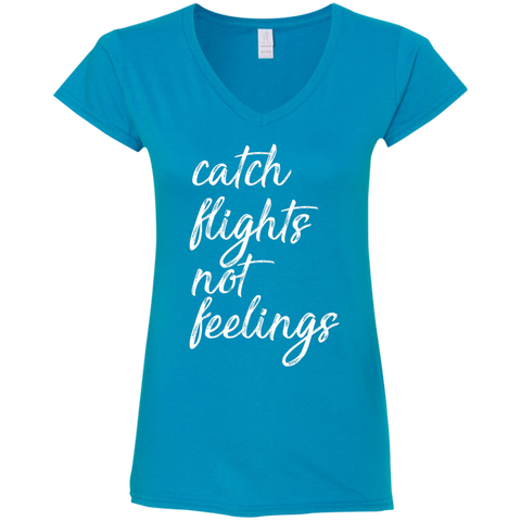 Catch Flights Not Feelings Tee (Women) | Multi-Colors